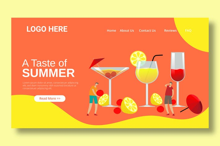 Cocktail Beverages - Landing Page