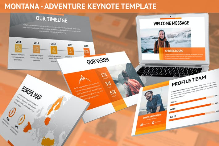 Thumbnail for Montana - Adventure Keynote Template