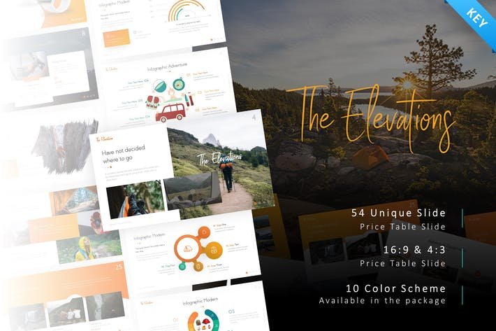 Thumbnail for Elevations Adventure Keynote Template