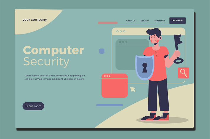 Security - Landing Page