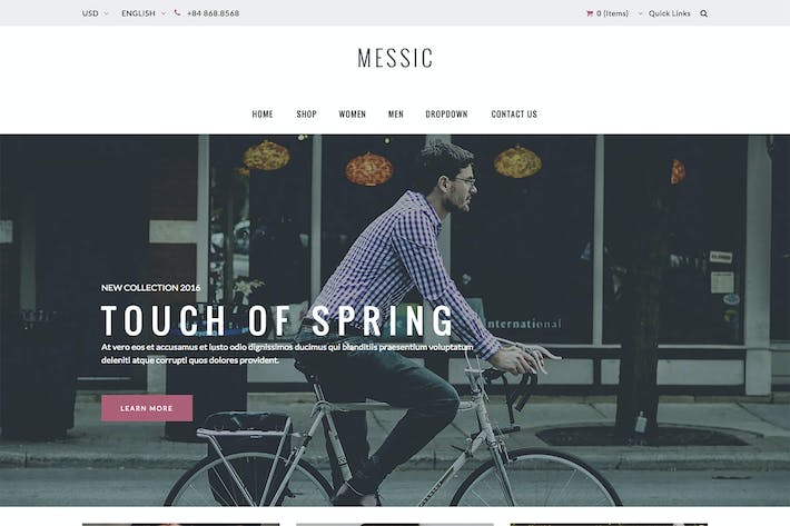 Thumbnail for Messic - Fashion Magento Thème