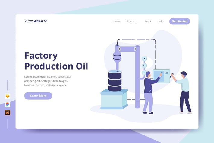 Thumbnail for Factory Production Oil - Landing Page