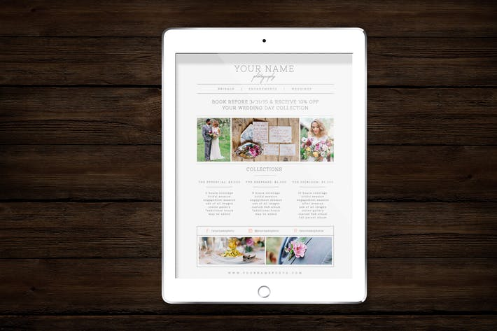 Thumbnail for Photographer Pricing Guide Template