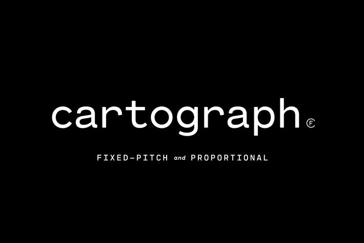 Thumbnail for Cartograph CF | robust, utilitarian font family