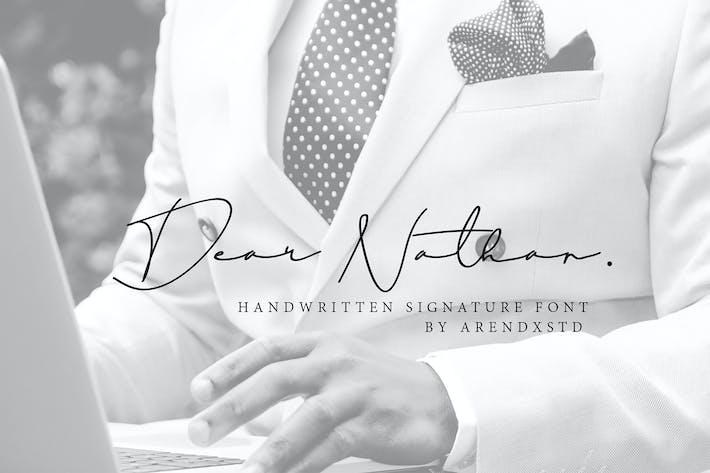 Thumbnail for Estimado Nathan Signature Font