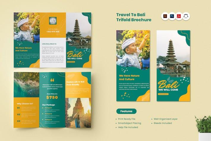 Reisepaket Trifold Broschüre