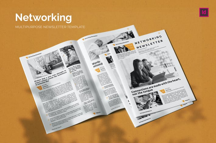 Thumbnail for Networking Business - Newsletter Template