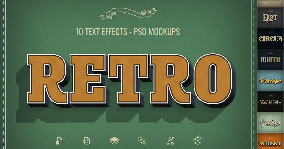 Download Retro Text Effects by Sko4