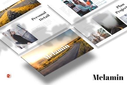 Меламин - Powerpoint Шаблон