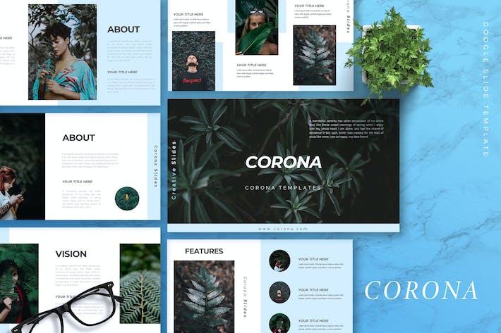 Thumbnail for CORONA - Creative Google Slides Template