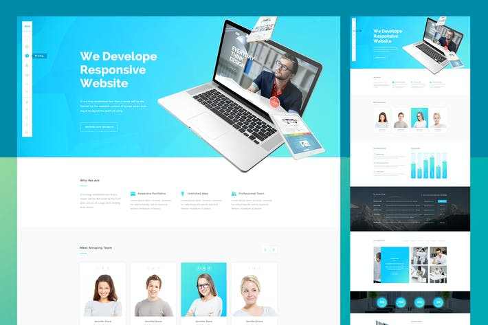 Cover Image For Clean Elegant Agency PSD Template