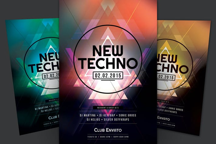 Thumbnail for New Techno Flyer
