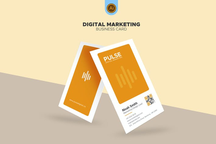 Thumbnail for Digital Marketing Business Card 06