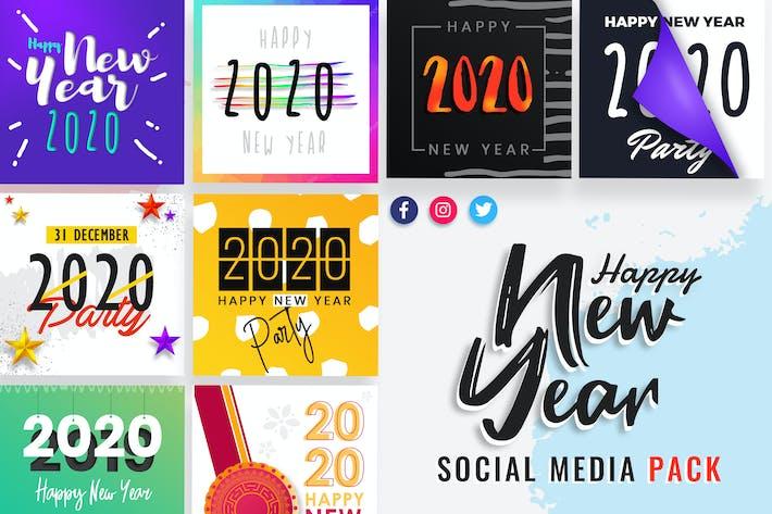 Thumbnail for New Year Social Media Post Templates