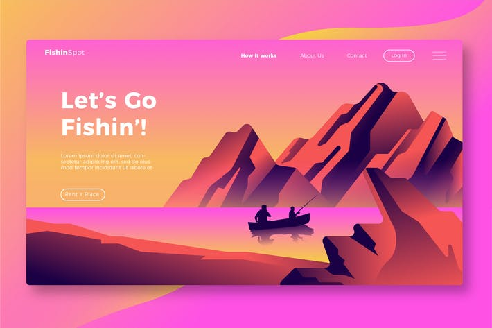 Thumbnail for Fishing - Banner & Landing Page