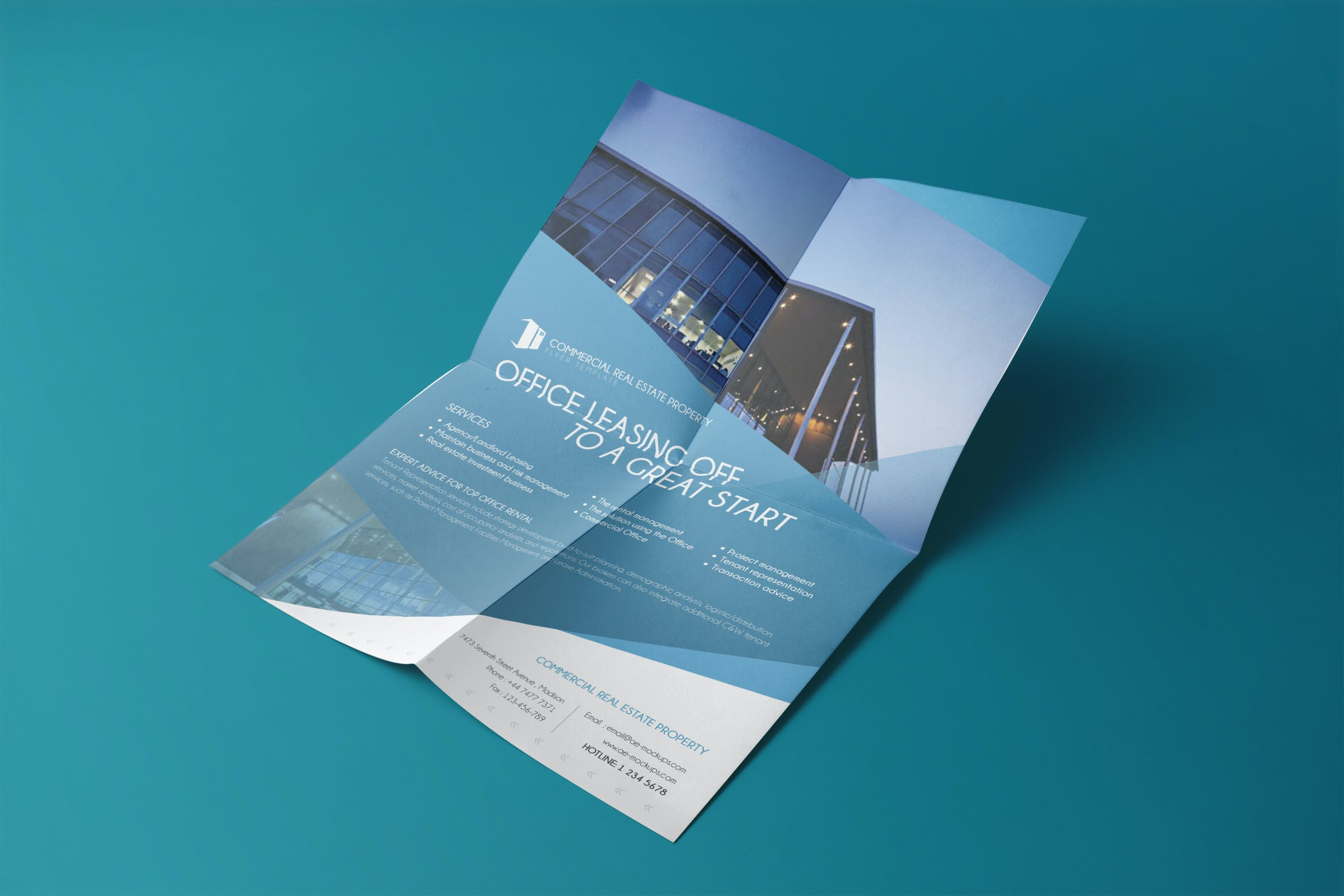 Commercial Real Estate Property Flyer Template01 By Wutip On Envato Elements