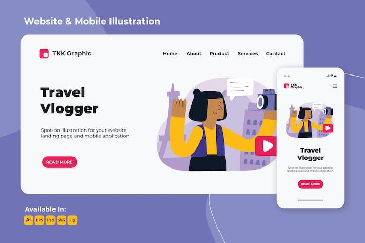 Thumbnail for Mädchen in Bewegung - Reisen vlogger web und mobile