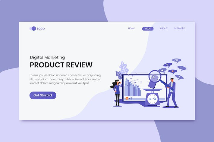 Thumbnail for Product Review Marketing Landing Page