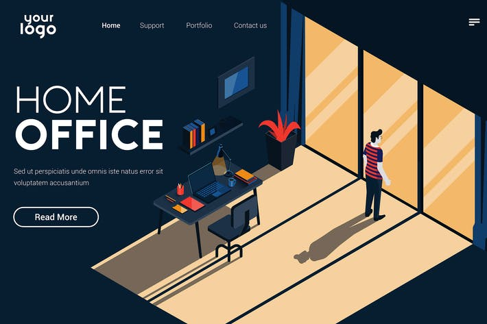 Thumbnail for Flat Modern design Illustration of Home office