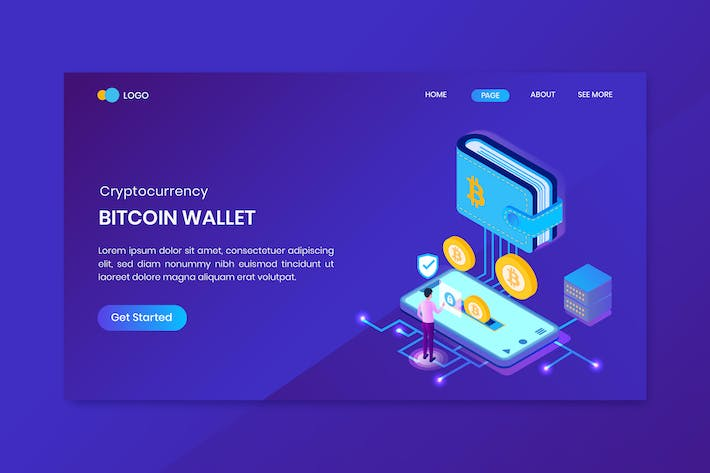 Thumbnail for Bitcoin Wallet Cryptocurrency Landing Page