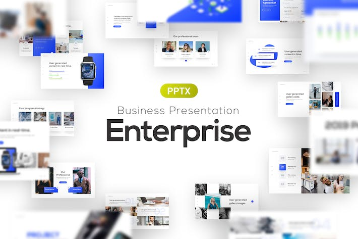 Thumbnail for Enterprise Business Corporate PowerPoint Template