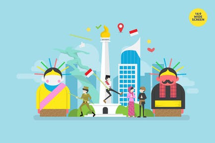 Jakarta Celebrating Indonesia Independence Day