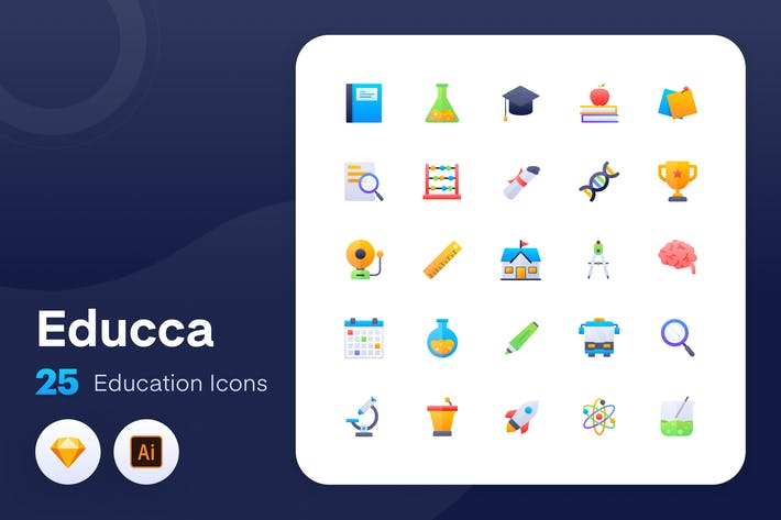 Thumbnail for Educca - Íconos Educación Vol.1