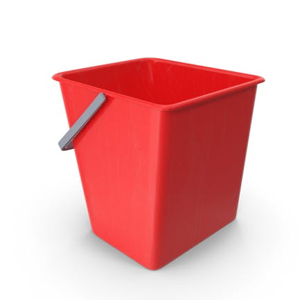 Square Cleaning Bucket Red
