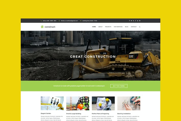 Thumbnail for Constructo - HTML Construction & Business Template