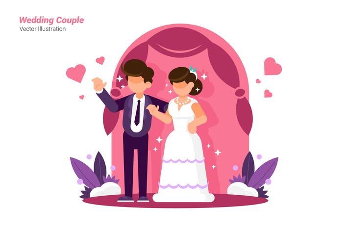 Thumbnail for Wedding Couple - Vector Illustration