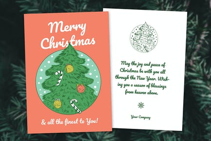 Christmas 2 Sides Greeting Card / Flyer