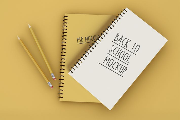 Thumbnail for Back to School on Spiral Notebook Mockup