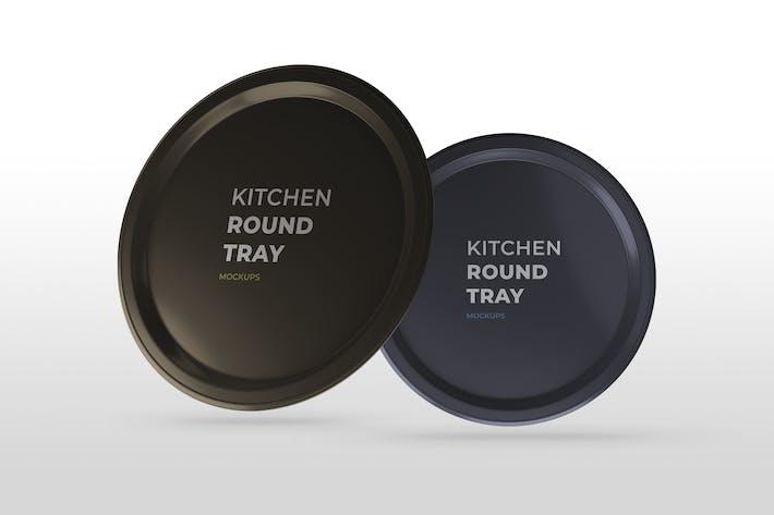 Thumbnail for Kitchen Round Tray Mockups