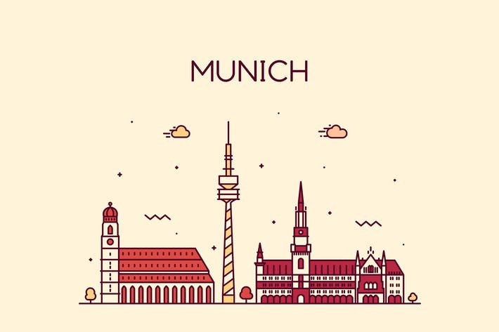 Thumbnail for Munich skyline, Germany