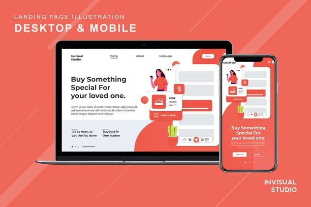 Buy More Payless - Landingpage Ilustration