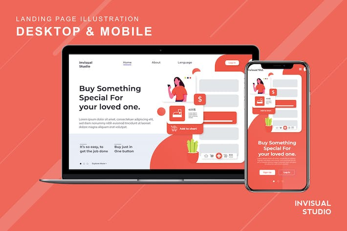 Thumbnail for Buy More Payless - Landingpage Ilustration