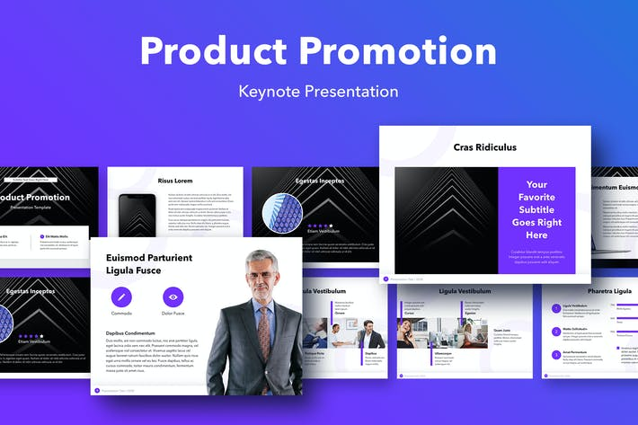 Thumbnail for Product Promotion Keynote Template