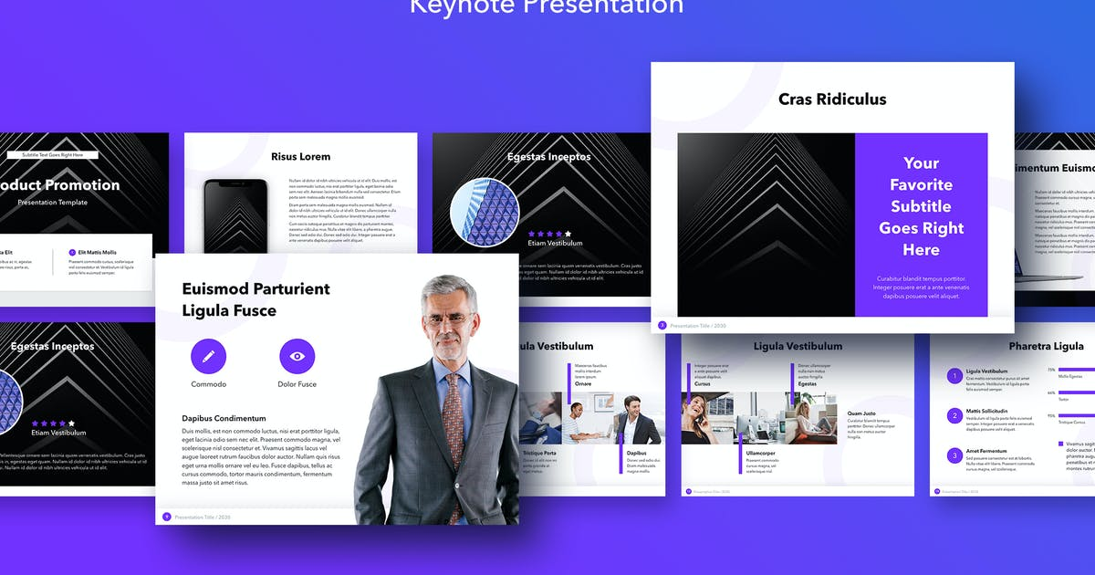 Download Product Promotion Keynote Template by Jumsoft
