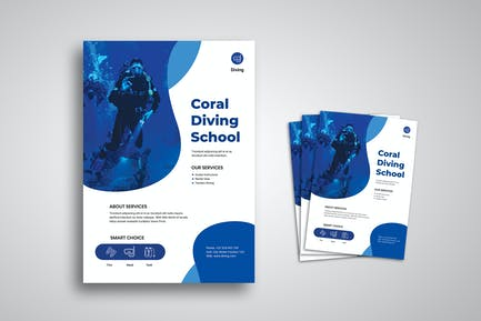 Diving Flyer Promo Template