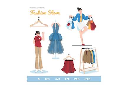 Tienda de Moda - Ilustraciones