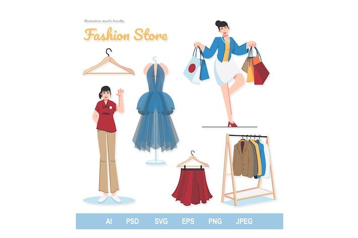 Thumbnail for Boutique de mode - illustrations