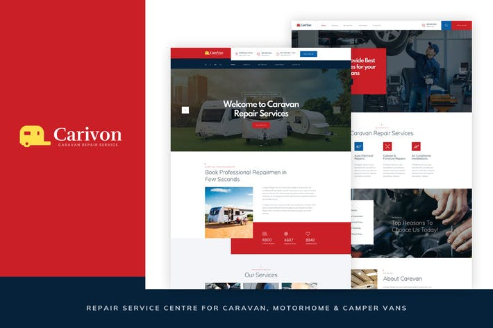 Thumbnail for Carivon - Repair Service Centre for Caravan HTML
