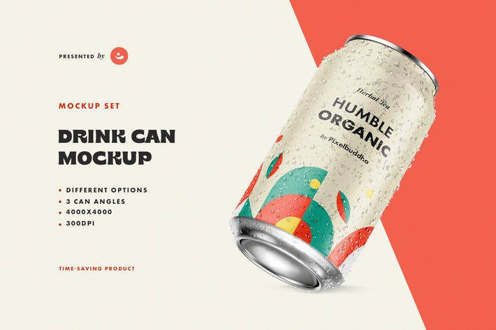 Thumbnail for Drink Can Mockup