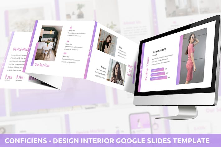 Cover Image For Conficiens - Design Interior Google Slides