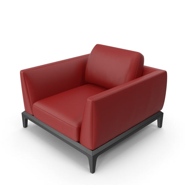 Red Leather Office Sofa