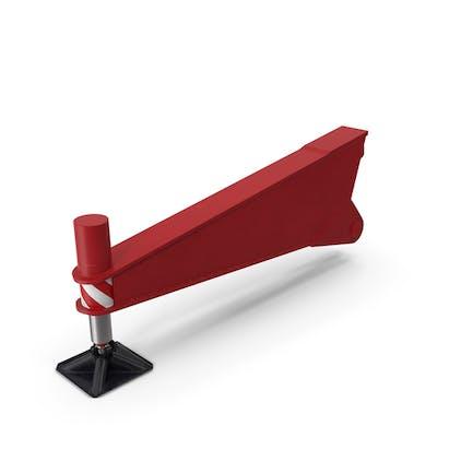 Crane Outrigger Red