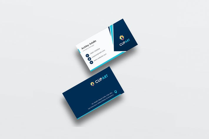 Thumbnail for Professional Business PSD Card Template
