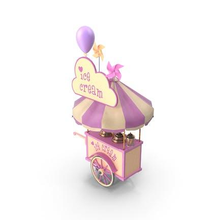 Eiscreme-Wagen