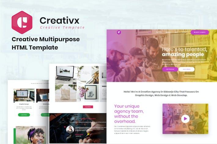 Thumbnail for Creativx - Creative Multipurpose HTML Template