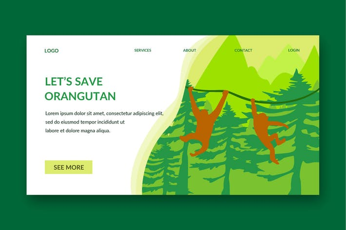 Thumbnail for monkey forest landing page template